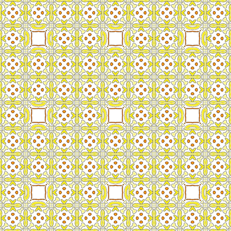 Seamless tile pattern illustration in traditional style