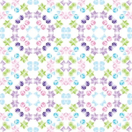 Colorful Seamless pattern vector illustration on white background.