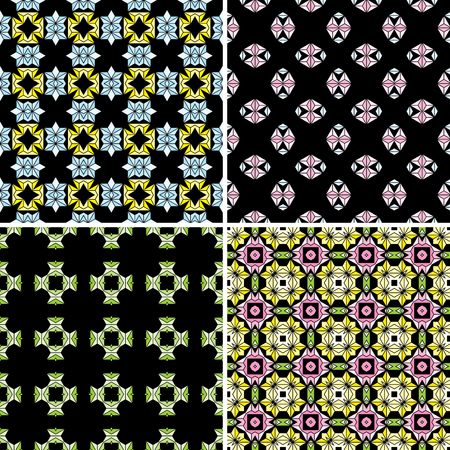 Colorful Seamless pattern vector illustration on  background. 向量圖像