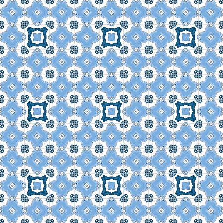 Seamless pattern illustration in traditional style - like Portuguese tiles Illustration