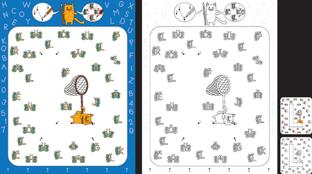 Preschool worksheet for practicing fine motor skills and recognising numbers and letters - connect the dots by number - circle all butterflies with letter L