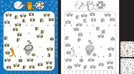 Preschool worksheet for practicing fine motor skills and recognising numbers and letters - connect the dots by number - circle all butterflies with letter W