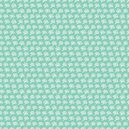 Illustrated seamless pattern made of hand drawn white flowers on teal background
