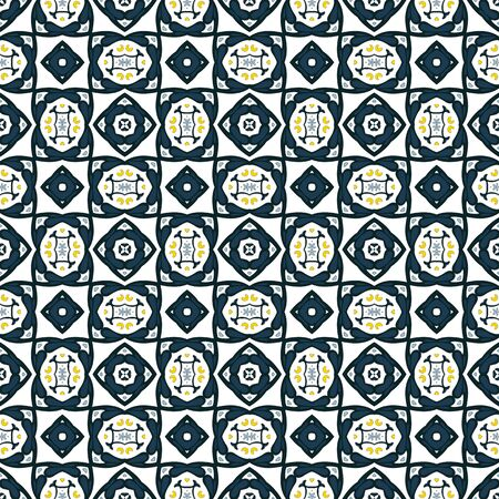 Seamless pattern illustration in traditional style - like Portuguese tiles 版權商用圖片 - 134806206