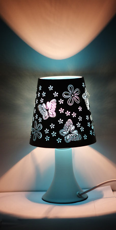 lamp shade: A Beautiful Table Lamp With Butterfly Design