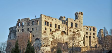 The ruins of medieval castle Ogrodzieniec in Poland.