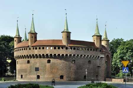 Barbican  Barbakan  in Cracow, Poland  The best preserved medieval barbican in Europe photo