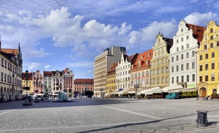 Rynek  Market Square  in Wroclaw  Breslau , Poland with old historic tenements Zdjęcie Seryjne