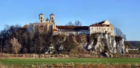 Benedictine monastery on the rocky hill by the Vistula river in Tyniec near Cracow, Poland Stock Photo - 17091834