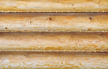 sealing ring: Wooden wall sealed with straw plaits