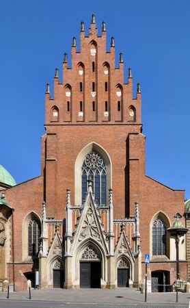 The Gothic Holy Trinity church at the Dominican monastery in Cracow, Poland Stock Photo - 20880554