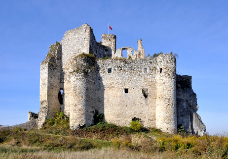 Ruins of Medieval Castle in Mirow, Poland, built in 14th century photo