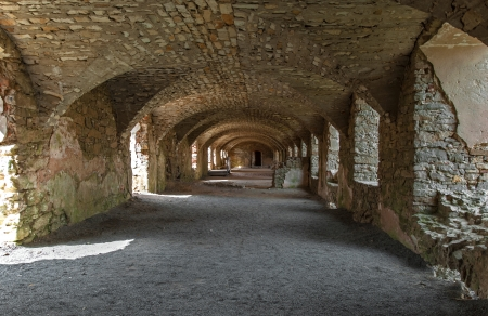 17th: The basement of the ruined castle Krzyztopor in Ujazd, Poland, built in 17th century