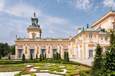 sobieski: Baroque Wilanow Palace in Warsaw, Poland, built by Polish king Jan III Sobieski Editorial