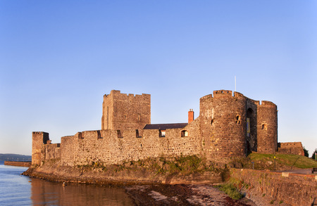 lough: Medieval Norman Castle in Carrickfergus, Northern Ireland