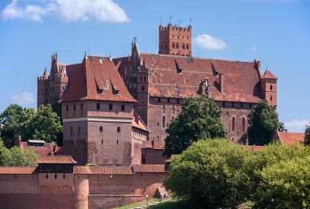 teutonic: Fortezza medievale Castello di Malbork principale dei Cavalieri Teutonici