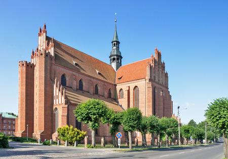 Medieval Gothic Cathedral in Pelplin, Poland Zdjęcie Seryjne