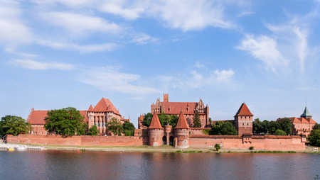 teutonic: Medieval Malbork Castle in Poland. Main fortress of the Teutonic Knights. Panorama.