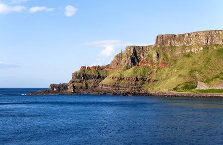 geological formation: Cliffs near Giants Causeway in Northern Ireland. Unique geological formation