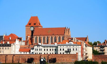 teutonic: Medieval Gothic Cathedral of St. John in Torun old city, Poland Stock Photo