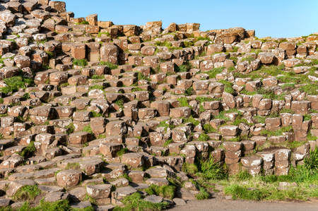 geological formation: Giants Causeway geological formation in Antrim County, Northern Ireland.