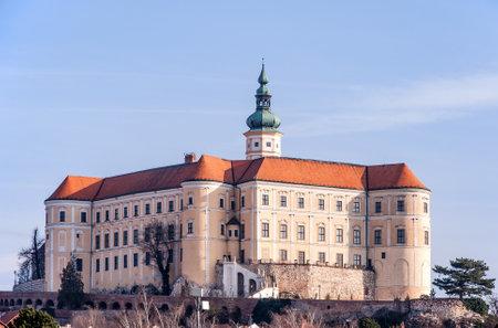 moravia: Mikulov castle in South Moravia, Czech Republic Editorial
