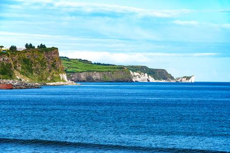 northern ireland: Cliffs on Northern Coast of Antrim County in Northern Ireland