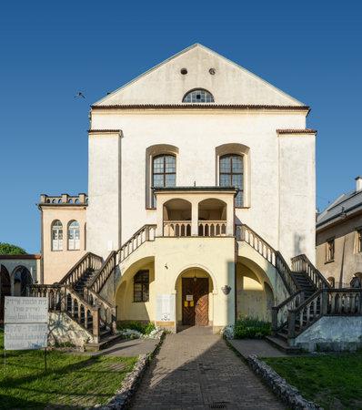 kazimierz: Krakow, Poland - May 21, 2016: Old Isaac Synagogue in Jewish Kazimierz district of Krakow, Poland Editorial