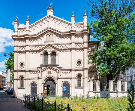 kazimierz: emple Synagogue in  Kazimierz district of Krakow, Poland. Editorial
