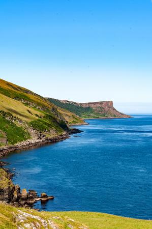 Cliffs on Northern Coast of Antrim County in Northern Ireland, UK