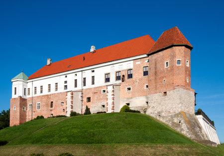 built in: Medieval Gothic castle in Sandomierz, Poland, built in 14th century