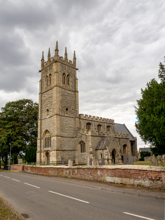 All Saints medieval, gothic church in Hawton, near Newark-on-Trent, Nottinghamshire, England, UK. The church is regarded as a building of outstanding architectural and historic interest
