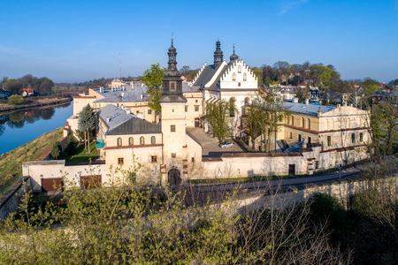Krakow, Poland. Norbertine convent and Vistula river