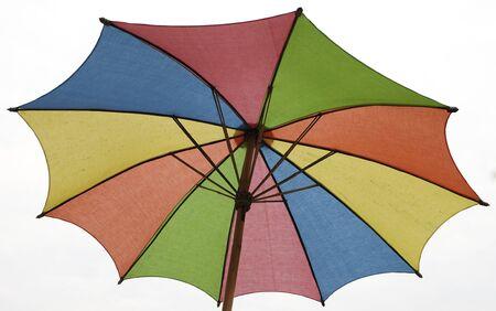 brolly: closeup colorful umbrella Stock Photo