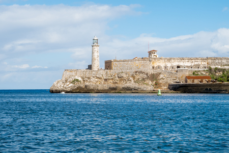 Fort of Saint Charles in Havana Cuba and sea-