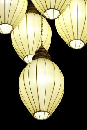 chandelier isolated: Beautiful chandelier isolated