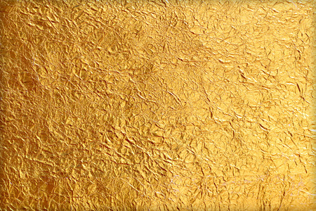 foil: Shiny yellow leaf gold foil texture background