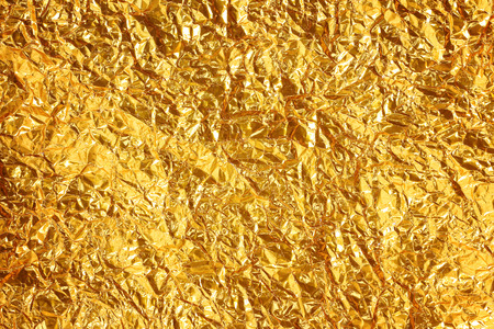 Shiny yellow leaf gold foil texture background Reklamní fotografie - 35003628