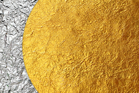 golden: Shiny yellow leaf gold and  bronze Shiny foil texture background