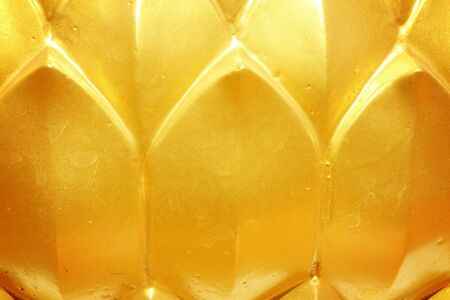 golden: Golden lotus Stock Photo