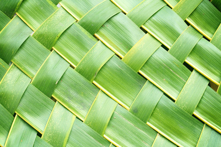 beach wrap: Zigzag interlocking of coconut leaves weave