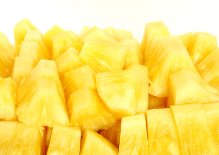 cut: Pineapple slices Stock Photo
