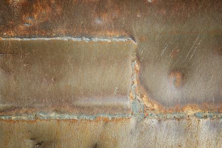 soldadura: cord�n de soldadura fondo hierro viejo
