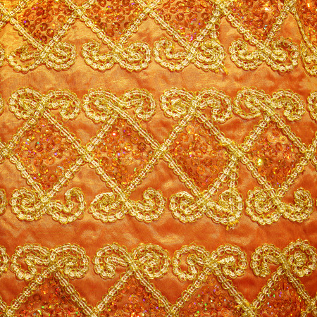 guipure: gold guipure, embroidery on cloth texture