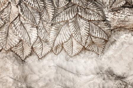 古典的な飾りと銀の金属板 写真素材