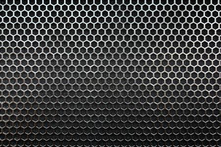 金属メッシュのシームレスなパターン 写真素材