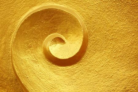 ゴールド ボリュート表面
