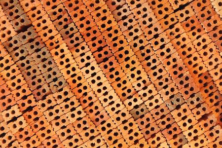 brick clay: Red clay brick