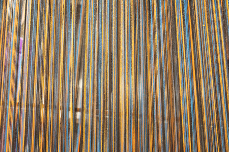 handloom: A kind of handloom use for northern style homemade silk or textile production in the scene appear the multicolor weave represent traditional northern Thailand garnet related concept idea. Stock Photo
