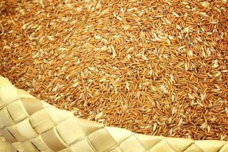 fiber food: Jasmine Brown Rice on basket